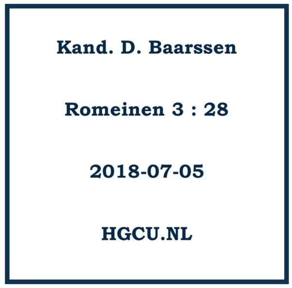 Romeinen, Kand D. Baarssen