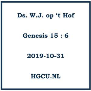 Preken cd ds. W.J. op 't Hof