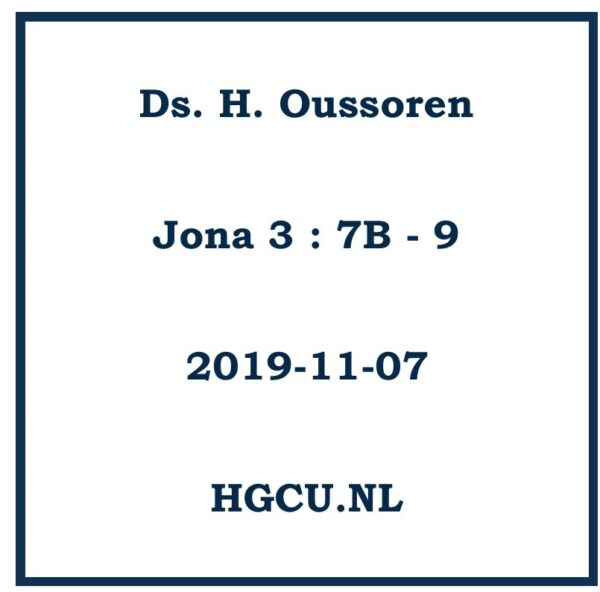 Preken Cd Ds. H. Oussoren