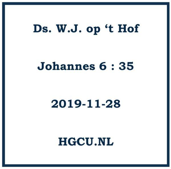Prteken Cd Ds. W.J. op 't Hof