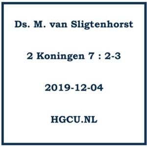 Preken-Cd Ds. M. van Sligtenhorst
