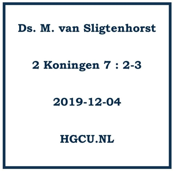 Preken-Cd Ds. M. van Sligtenhorst