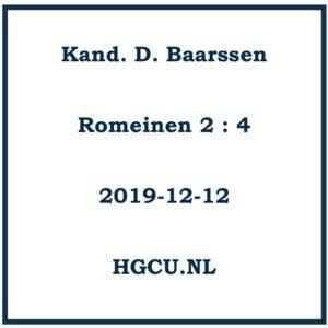 Preek-Cd van Kand. D. Baarssen
