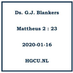 Preken Cd van Ds. G.J. Blankers