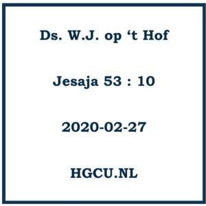 Preken-Cd Ds. W.J. op 't Hof