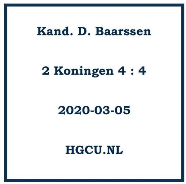 Preken-Cd-Kand. D. Baarssen