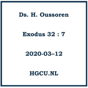 Preken-Cd Ds. H. Oussoren
