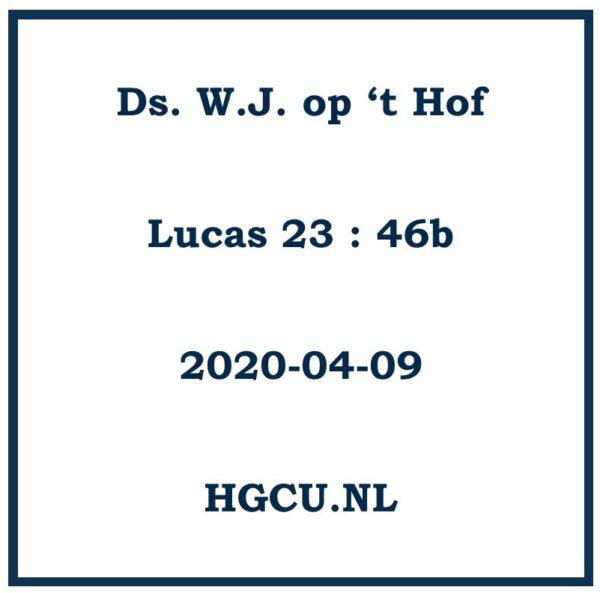 Preken cd van ds. W.J. op 't Hof