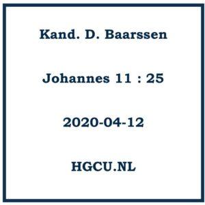 Preken Cd Kand. D. Baarrssen