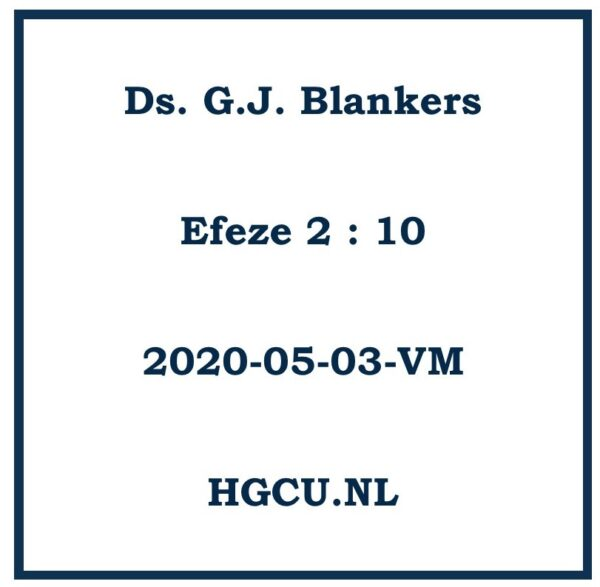 Preken Cd ds. G.J. Blankers