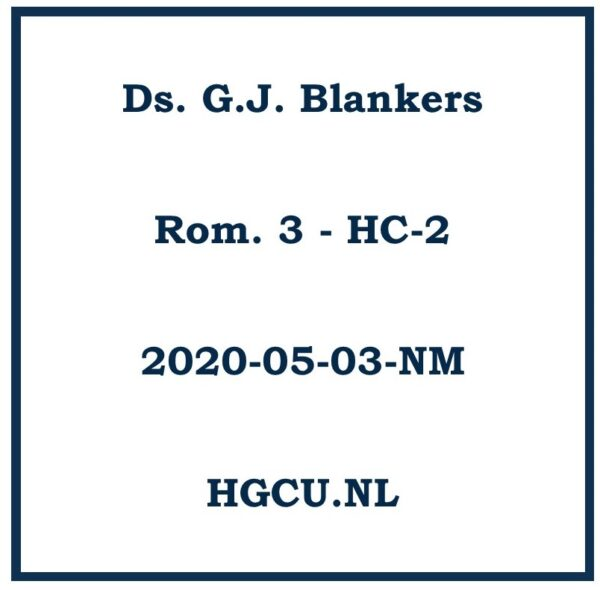 Preken cd. Ds. G.J. Blankers
