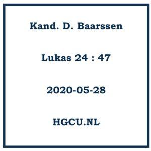 Preken Cd. Kand. D. Baarssen