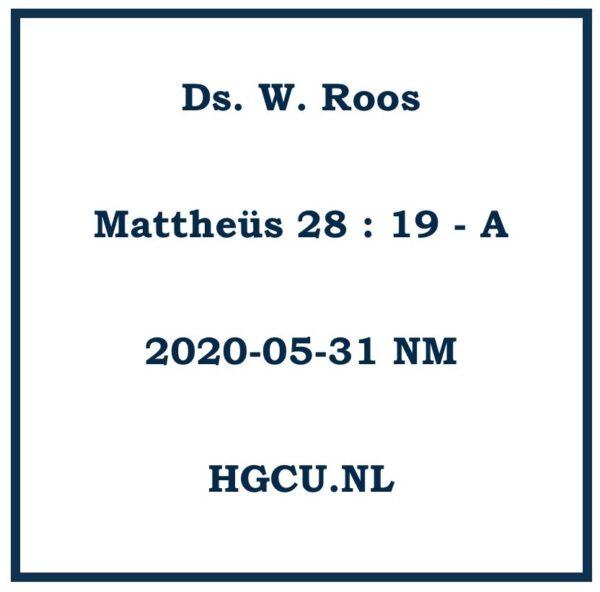 Preken Cd Ds. W. Roos
