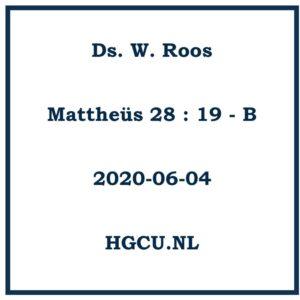 Preken-Cd. Ds. W. Roos