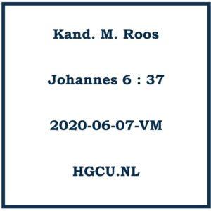 Preken Cd Kand. M. Roos