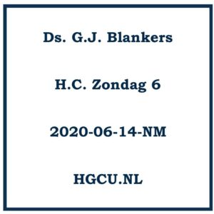 Preek Cd Ds. G.J. Blankers