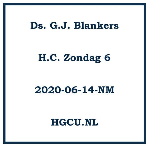 Preek Cd Ds. G.J. Blankers