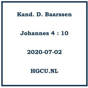 Preek Cd van Kand D. Baarssen