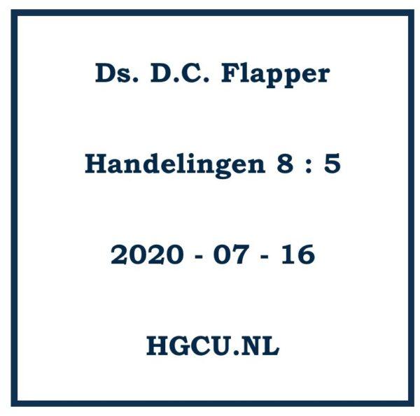 Preek Cd van Ds. D.C. Flapper