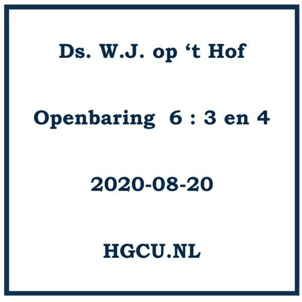 Preek Cd van ds. W.J. op 't Hof