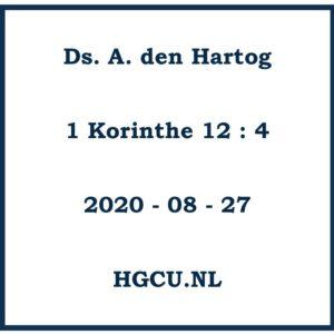 Preek van Ds. A. den Hartog