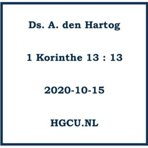 Preek Vd ds, A. den Hartog
