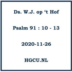 Preken Cd ds W.J. op 't Hof