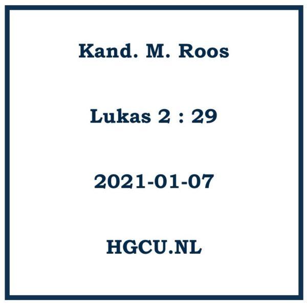 Preken Cd van Kand. M. Roos