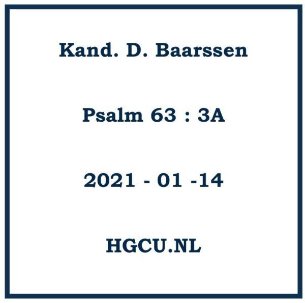 Preken Cd van Kand. D. Baarssen