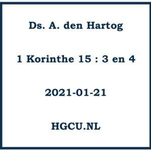 Preken Cd Ds. A. den Hartog