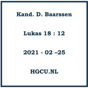 Preken Cd van Kand. D. Baarsssewn