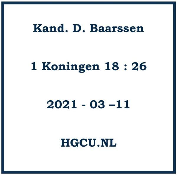 Preek cd van Kand. D. Baarssen