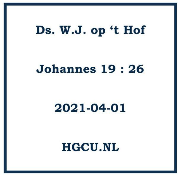Preken C d van ds. W.J. op 't Hof