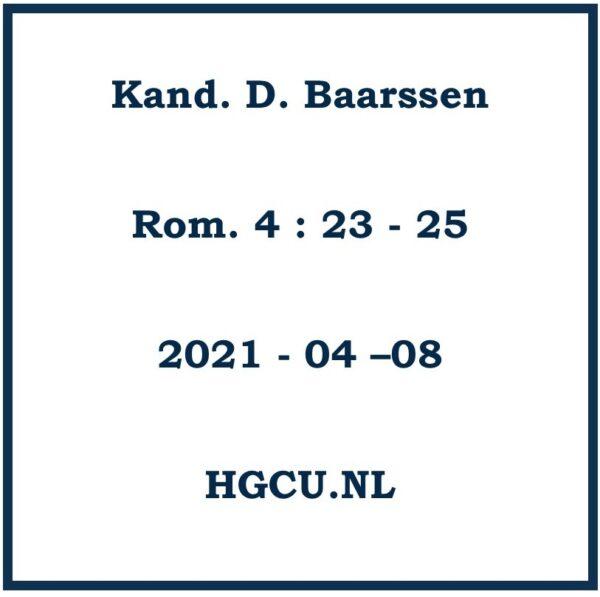 Preken Cd van Kan. D. Baarssen