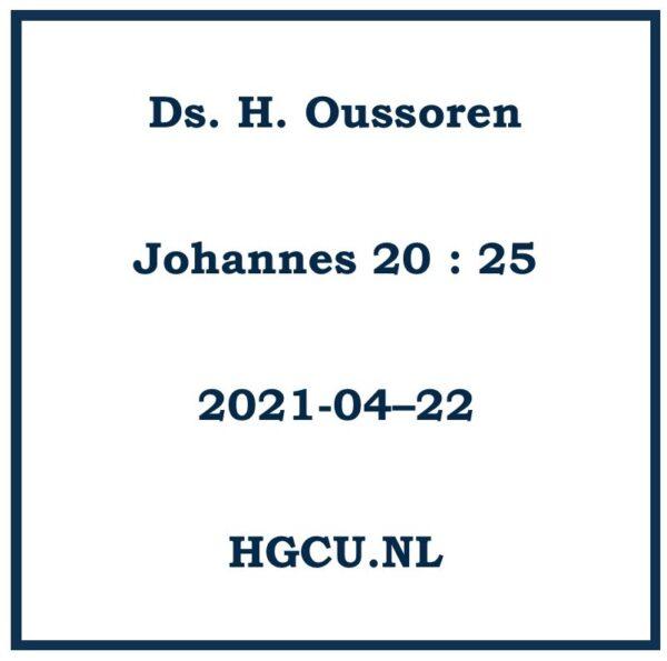 Preken Cd van Ds. H. Oussoren