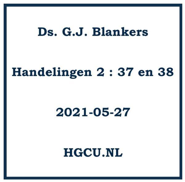 Preken Cd ds. G.J. Blankers