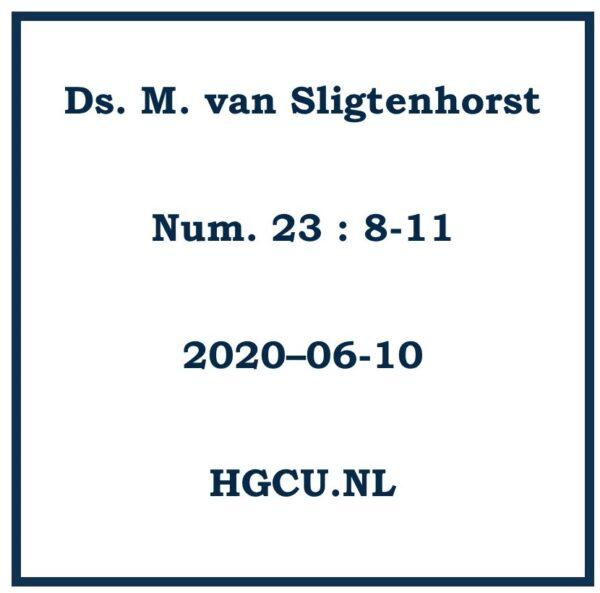 P{reek Cd van Ds. M. van Sligtenhorst