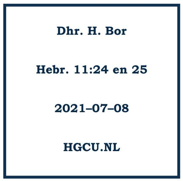 Preken Cd van Dhr. H. Bor